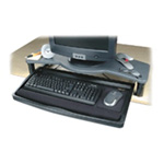 Acco Desktop Comfort Keyboard Drawer with Smartfit System - Monitor Stand With Keyboard Shelf And Mouse Tray