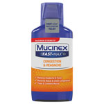 Mucinex Maximum Strength Fast Max Cold & Sinus, 6 OZ