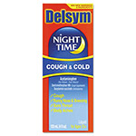 Delsym® Adult Night Time Cough and Cold Liquid, Cherry, 4 OZ