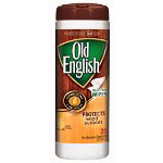 Old English Furniture Wipes, 25 Count Canister, Lemon Scent