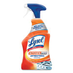Lysol Kitchen Pro Antibacterial Cleaner, Citrus Scent, 22 oz Spray Bottle, 9/CT