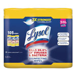 Lysol Disinfecting 7x8 Cleaning Wipes, Lemon Scent, Pack of 3
