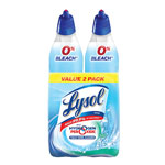Lysol Power & Free Toilet Bowl Cleaner, Cool Spring Breeze, 24 oz Bottle, 2/Pk