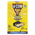 d-Con® Refillable Bait Station & Refills, 3 x 3 x 1 1/4, 0.7oz, 4 Refills/Box, 8/Crtn