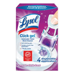 Lysol Click Gel Automatic Toilet Bowl Cleaner, Lavender, 0.16 oz, 4/Box