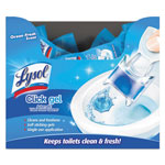 Lysol Click Gel Automatic Toilet Bowl Cleaner, Ocean Fresh, 0.17 oz, 18/Carton