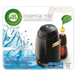 Air Wick Essential Mist Starter Kit, Fresh Breeze, 0.67 oz, 4/Carton