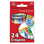 Rose Art Crayons, Classic Colors, 24 Pack