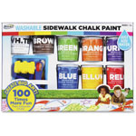 The Board Dudes Washable Sidewalk Chalk Paint, Ages 3-Up, 8/PK, Assorted