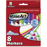 The Board Dudes Washable Markers, Broadline, 8/PK, Bold/Ast