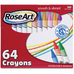 The Board Dudes Smooth/Vibrant Crayons, Non-Toxic, 64/PK, Assorted