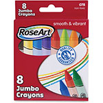 The Board Dudes Jumbo Classic Crayons, 8/PK, Assorted