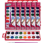 The Board Dudes Washable Watercolors, 16-Colors, 6ST/BX,