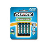 Rayovac NiMH Rechargeable AAA Batteries 4-Pack