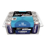 Rayovac Alkaline Battery, D, 12/Pack
