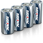Rayovac Fusion Performance Alkaline Batteries, D, 4/Pk