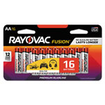 Rayovac Fusion Advanced Alkaline Batteries, AA, 16/Pack