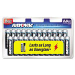 Rayovac Alkaline Batteries, AA, 24/Pack