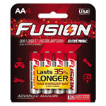 Rayovac Fusion Performance Alkaline Batteries, AA, 4/Pk