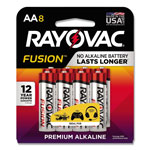 Rayovac Fusion Advanced Alkaline Batteries, AA, 8/Pack