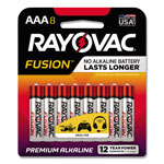 Rayovac Fusion Advanced Alkaline Batteries, AAA, 8/Pack