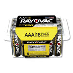 "Rayovac Ray-O-Vac ALAAA18 Industrial PLUS Alkaline Batteries, ""AAA"", 18/Pack"