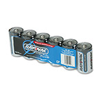 Rayovac Industrial PLUS Alkaline Batteries, D, 6/Pack