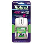 Rayovac Four-Position Hybrid Battery Charger w/2 AA Hybrid NiMH Batt, 8 Hr Chrg