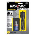 Rayovac LED Aluminum Flashlight, 3 AAA, Black
