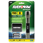 Rayovac Sportsman Flashlight, Holster, Black/Metallic Sage, 2 AA