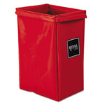 Royal Basket Trucks Hamper, Hamper Bag Only, 30 Gal, 15w X 16d X 30h, Red