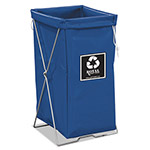 Royal Basket Trucks Enviro Hamper, 30 gal, Steel/Vinyl, Blue, 15 x 16 x 30