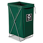 Royal Basket Trucks Enviro Hamper, Hamper Bag and Stand, 30 gal, 15 x 16 x 30, Green