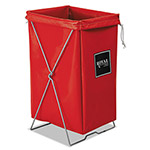 Royal Basket Trucks Hamper, Hamper Bag and Stand, 30 gal, 15 x 16 x 30, Red