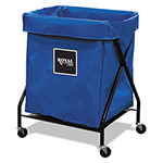 Royal Basket Trucks X-Frame Cart, Collapsible, 8 Bushel, 150 lb Capacity, 21 x 26 x 36, Blue