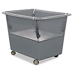 Royal Basket Trucks Poly Spring Lift, Gray, Steel/Vinyl, 8 Bushel Capacity, 17 x 29 1/2