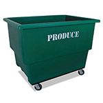 Royal Basket Trucks Produce Cart, 600 lb Capacity, Steel/Polyethylene/Rubber, 32 x 46 x 37, Green