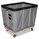 Royal Basket Trucks Permanent Liner Truck, 16 Bushel, 600 lb Capacity, Steel, 28 x 40 x 36 1/2, Gray