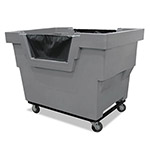 Royal Basket Trucks Mail Truck with Recycle Decal, 1000-lb Capacity, 31 3/4 x 48 x 37, Gray