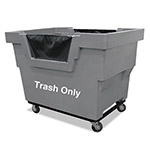 Royal Basket Trucks Mail Truck with Trash Decal, 1000-lb Capacity, 31 3/4 x 48 x 37, Gray