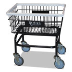 Royal Basket Trucks Wire Laundry Cart, 200-lb Capacity, 21 x 26 x 26 1/2, Black