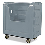 Royal Basket Trucks Bulk Transport Truck, 36 cu ft, 800-lb Capacity, 28 x 50 1/2 x 54 3/4, Gray