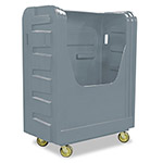 Royal Basket Trucks Bulk Transport Truck, 48 cu ft, 800-lb Capacity, 28 x 50 1/2 x 66 3/4, Black