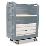 Royal Basket Trucks Bulk Transport Truck, 48 cu ft, 800-lb Capacity, 28 x 50 1/2 x 66 3/4, Gray