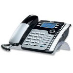 RCA 25204RE1, 2-Line Corded Speakerphone With Caller ID/Call Waiting, Black/Silver