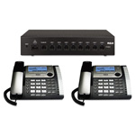 RCA 25800 Eight-Line Corded Office Phone System, Router and 2 Corded Base Stations