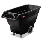 Rubbermaid 600 Pound Black Plastic Tilt Cart