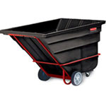 Rubbermaid Rotomolded Tilt Truck, Rectangular, Plastic, 2300-lb Cap., Black