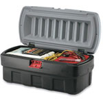 Rubbermaid ActionPacker Cargo Box, 48gal, Black/Gray