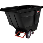 Rubbermaid 450 Pound Black Plastic Tilt Cart